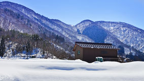 Cottage at Ogimachi Village Shirakawago Royalty Free Stock Images