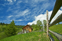Cottage. Old lonely cottage in Romania mountains Stock Images