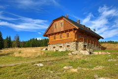 Cottage, Panorama, Autumn, Filipova huť, Sumava, Boemerwald, Czech Republic Royalty Free Stock Image