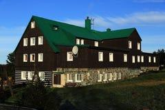 Cottage, Pec pod Snezkou, the giant mountains (czech: Krkonose, Pec pod Snezkou), the northern part of the Czech Republic Stock Image