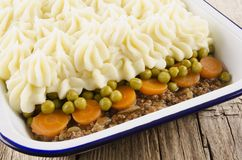 Cottage pie with mashed potato Royalty Free Stock Photography