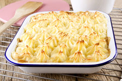 Cottage pie with mashed potato Stock Photos