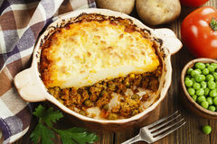 Cottage pie with meat Royalty Free Stock Images