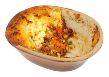 Cottage Pie In Old Earthenware Dish Stock Image