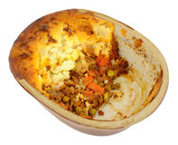 Cottage Pie In Old Earthenware Dish Royalty Free Stock Image