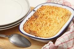 Cottage pie from the oven Royalty Free Stock Images