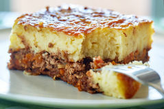Cottage pie on a plate Stock Photo