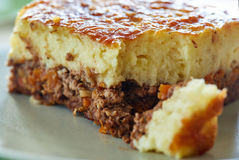 Cottage pie on a plate Royalty Free Stock Photos