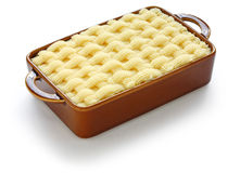 Cottage pie, uncooked Stock Photos