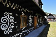 Cottage piega verniciato Fotografia Stock Libera da Diritti