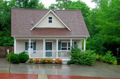 Cottage in the Rain Royalty Free Stock Image