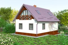 Cottage for recreation Royalty Free Stock Image