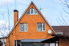 Cottage from  red brick Stock Photography