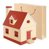 Cottage red package Royalty Free Stock Photos