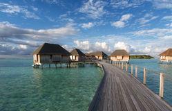 Cottage resort in the sea Royalty Free Stock Photo