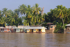 Cottage on the River Mekong in Don Khon Royalty Free Stock Photography