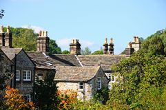 Cottage rooftops, Bakewell. Royalty Free Stock Images