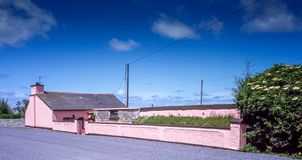 Cottage rose Dingle Photo libre de droits