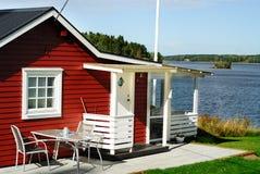 Cottage rosso immagini stock