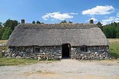 Cottage scozzese dell'altopiano immagine stock libera da diritti