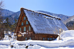 Cottage at Shirakawago Stock Photo