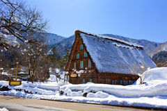 Cottage at Shirakawago Royalty Free Stock Images