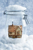 Cottage Snowglobe Stock Photos