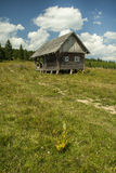 Cottage solo alla montagna di Golija in Serbia Fotografia Stock Libera da Diritti