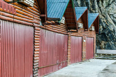Cottage store in row close.  Stock Photography