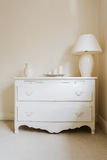 Cottage style chest of drawers Stock Photos
