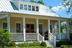 Cottage Style House. New Cottage Style House with Large Front Porch Stock Image