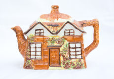 Cottage style teapot. Royalty Free Stock Photo