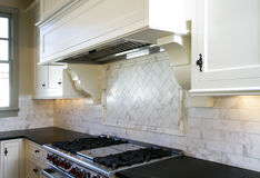 Cottage style white kitchen Royalty Free Stock Image