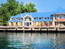 Cottage su acqua Immagini Stock