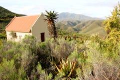 Cottage sudafricano dell'azienda agricola Fotografia Stock Libera da Diritti