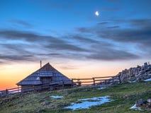 Cottage sul planina di Velika Immagini Stock