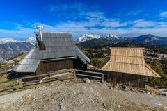 Cottage sul planina di Velika Fotografia Stock Libera da Diritti