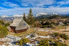 Cottage sul planina di Velika Fotografia Stock
