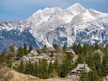 Cottage sul planina di Velika Immagine Stock