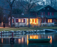 Cottage svizzero Immagini Stock