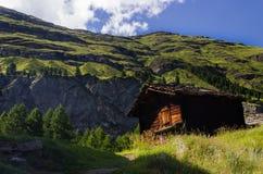 Cottage svizzero Fotografia Stock Libera da Diritti
