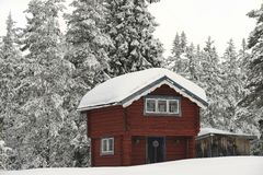 Cottage in Sweden Stock Photo