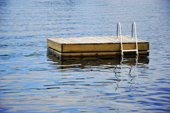 Cottage Swimming Raft Stock Photo