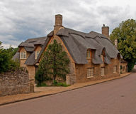 Cottage Thatched in Northamptonshire Immagine Stock