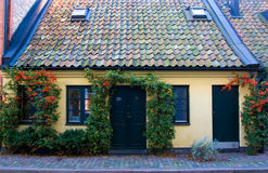 Cottage with tile roof. Old cottage with tile roof Stock Photo