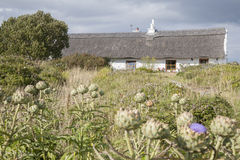 Cottage traditionnel, Inishmore ; Aran Islands Photos stock