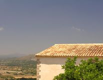 Cottage View. Historical cottage on the spanish island Mallorca with a wonderful view Stock Images