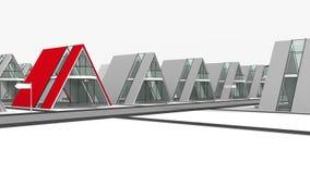 Cottage village. Banner homes real estate for business and creating websites and Web design Stock Images