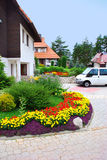 Cottage village in resort Royalty Free Stock Photos