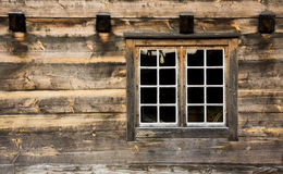 Cottage window. Window of a wooden cottage Royalty Free Stock Photography